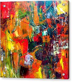 Acrylic Print featuring the painting Runaround by Katie Black