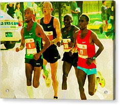 Runners Acrylic Print by Alice Gipson