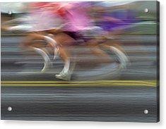 Runners Blurred Acrylic Print