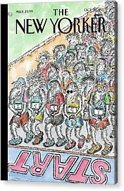 Runners Gather At The Starting Line Acrylic Print