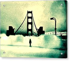 Acrylic Print featuring the digital art Runnin' Away Gotta Get Outta This Town by Lisa McKinney