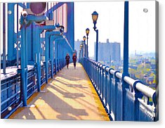 Running Across The Ben Acrylic Print by Bill Cannon