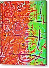 Running Circles 'round The Sun Acrylic Print by Yshua The Painter