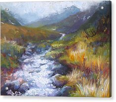Running Down - Landscape View From Hatcher Pass Acrylic Print by Talya Johnson