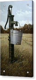 Running Dry Acrylic Print by William Albanese Sr
