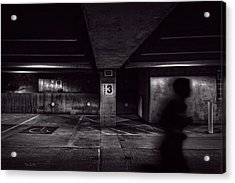 Running Level Three Night People Acrylic Print by Bob Orsillo