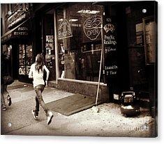 Running Acrylic Print by Miriam Danar