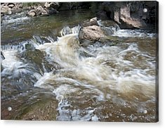 Acrylic Print featuring the photograph Running River by Marek Poplawski