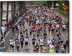 Acrylic Print featuring the photograph Running The Marathon by Nathan Rupert