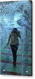 Running Through The Fountains Acrylic Print