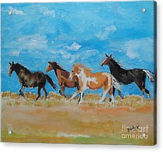 Acrylic Print featuring the painting Running Wild by Judy Kay
