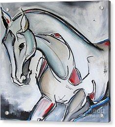 Acrylic Print featuring the painting Running Wild by Nicole Gaitan