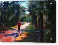 Running Acrylic Print by William Sargent