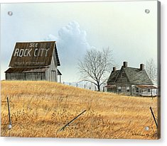 Acrylic Print featuring the painting Rural America by Mike Brown
