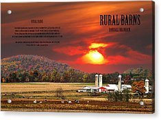 Rural Barns  My Book Cover Acrylic Print by Randall Branham