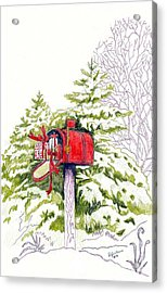 Country Living Christmas Delivery Acrylic Print