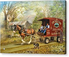 Rural Deliveries Acrylic Print by Trudi Simmonds