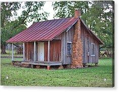 Acrylic Print featuring the photograph Rural Georgia Cabin by Gordon Elwell