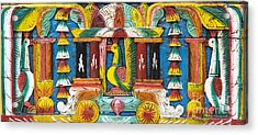 Rural Indian Wood Carving Acrylic Print by Tim Gainey