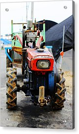 Rural Korean Tractor Acrylic Print by Sally Bucey