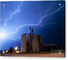 Rural Lightning Storm Acrylic Print