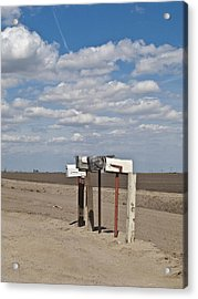 Rural Mailboxes Acrylic Print by David Litschel