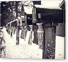 Rural Mailboxes Acrylic Print by Edward Fielding