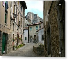 Rural Medieval Town Acrylic Print