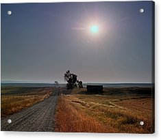 Rural Montana Sunrise Acrylic Print by Leland D Howard