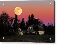 Rural Moonrise Acrylic Print