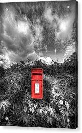 Rural Post Box Acrylic Print by Mal Bray