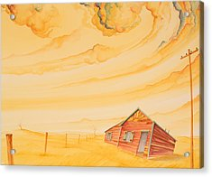 Rural Post Office Acrylic Print by Scott Kirby