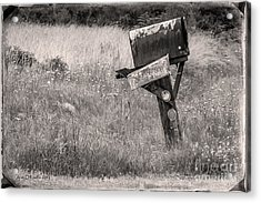 Rural Route Mail Call  Acrylic Print