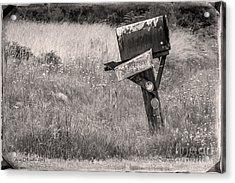 Rural Route Mail Call  Acrylic Print by Jean OKeeffe Macro Abundance Art