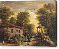 Rural Scene Acrylic Print by Dan Scurtu
