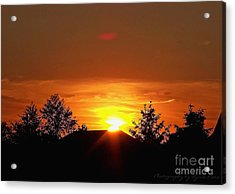 Acrylic Print featuring the photograph Rural Sunset by Gena Weiser