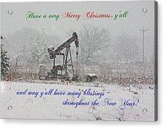 Rural Texas Christmas Acrylic Print