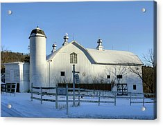 Acrylic Print featuring the photograph Rural Winter Whites And Blues by Gene Walls