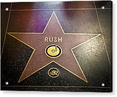 Rush Has A Star Acrylic Print