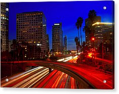 Rush Hour Blue Acrylic Print