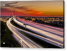 Rush Hour On 59 Acrylic Print by Micah Goff