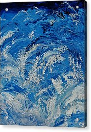 Acrylic Print featuring the painting Rush by Katherine Young-Beck