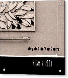 Rush Street Acrylic Print
