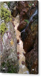 Acrylic Print featuring the photograph Rushing Crevasse by Fortunate Findings Shirley Dickerson