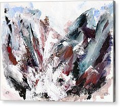 Rushing Down The Cliff Acrylic Print by Lidija Ivanek - SiLa