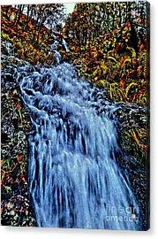Rushing Falls Acrylic Print by Andy Heavens