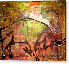 Acrylic Print featuring the painting Rushing Matador by Amy Sorrell