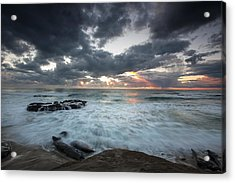 Rushing Seas Acrylic Print by Peter Tellone
