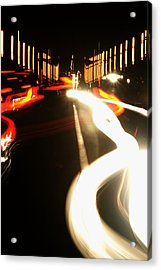 Rushing Traffic Acrylic Print by Rajiv Chopra