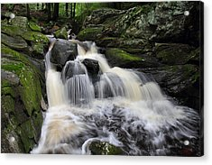 Rushing Water Acrylic Print by Mike Farslow